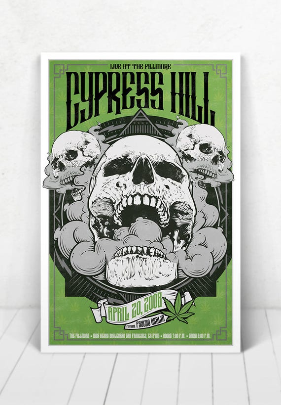 Cypress Hill Concert Poster - Illustration [Cypress Hill / The Fillmore - San Fransisco, CA - April 20, 2008]