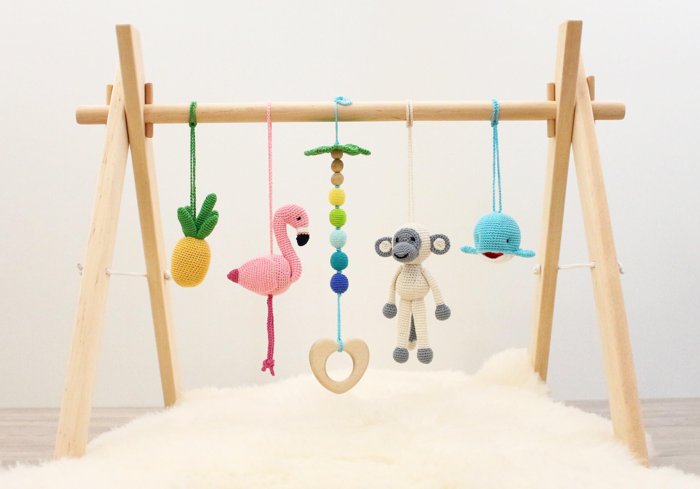 Baby Play Gym Tropical Adventure Flamingo Pineapple Monkey
