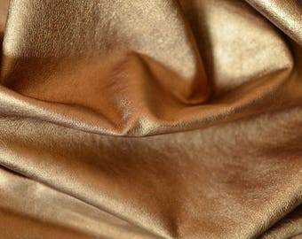 Gold Natural Italian Leather,Thickness: 0.9 mm Height 50 cm Width 60 cm,b1016