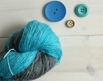 Hades: Disney themed hand dyed lace weight yarn, 100g linen - silk - merino