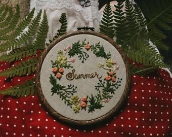 "Pattern+little instruction ""Summer wreath"""