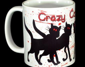 Mug - Crazy Black Cat Lady Mug