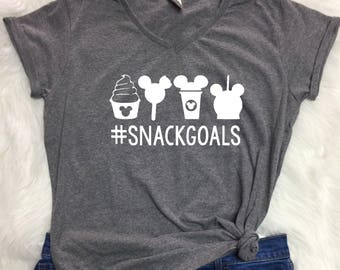Disney snack goals V-neck shirt, Snack goals t shirt, Disney inspired t shirt