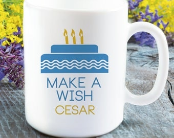 Make A Wish Personalized Mug for Him