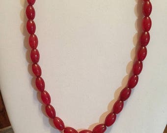 """Valentines Day Sale Ruby  Necklace 18"""""""