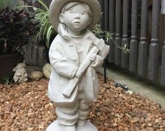 Fireman Boy Cement Statue