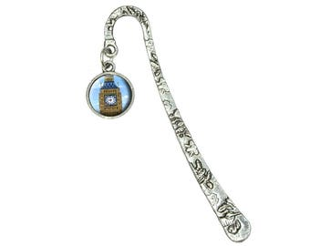 Big Ben Clock Tower London England Book Bookmark With Antiqued Charm