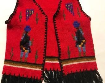 Knit Fringe Vest
