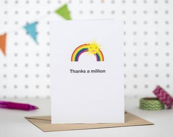 Thank you card | Thanks a million | Thank you teacher | Thanks card