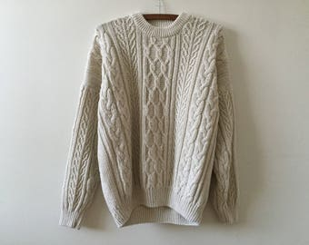 Vintage cotton fisherman sweater