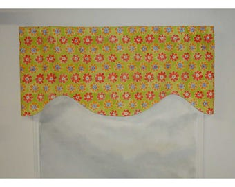 Colorful Floral Flower Power Shaped Valance