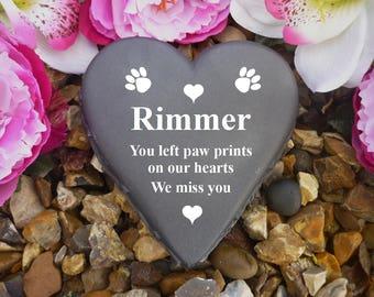 Pet Memorial - Heart - Weatherproof - Personalised - Dog Designs