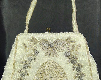 Vintage Beaded Evening bag made in Belgium for Filene's