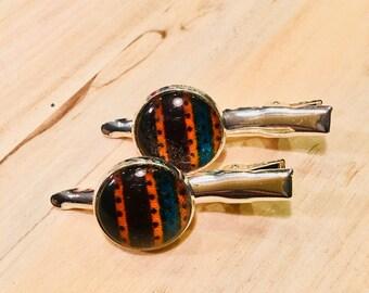 Haarknip - hair clip - hair gem - African inspired - pair (2) - hoof (chief)