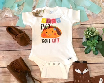 Taco Onesie®, Funny Onesies, Baby Girl Clothes, Taco Birthday Party, Cute Baby Onesies, Hipster Baby, Taco Bout Cute Onesie, Fiesta Shirt