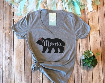 Mama Bear Shirt, Mama Shirt, Mom Shirt, Mom T Shirt, Gifts for Mom, Womens Graphic Tee, Graphic Tees for Women, Baby Shower Gift for Mom