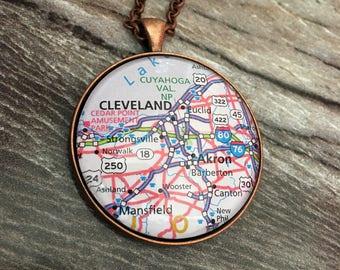 Destination necklace / custom jewelry / handmade necklace
