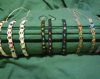 Beaded Hemp Cord Bracelets