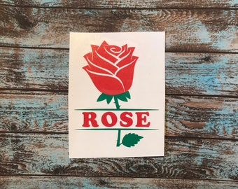 Rose with Name Decal | Rose with Monogram Decal | Name Decal | Monogram Decal | Rose Decal | Yeti Decas | Car Decal | Mother's Day Decal