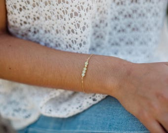 Gold filled and semi precious stones bracelet