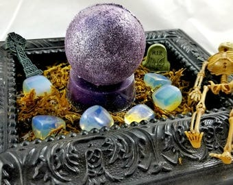 Fortune Teller Oak Moss & Amber Bath Bomb/Soap Combo With Surprise Opalite Stone!