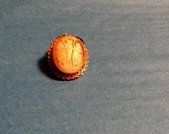 Vintage Catamore 3 angels cameo brooch