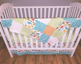 Dinosaur Crib Bedding Etsy