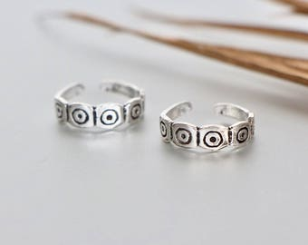 Egyptian Silver Toe Ring, Free Size Toe Ring, Toe Ring, Simple Toe Rings, Gift For Her, Bohemian Toe Ring, Minimal Toe Band, (TS 71)