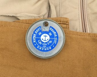 Old Anchor Fishing Split Shot Container  Vintage AB BB No3 No0 Double Cut Fly Fishing