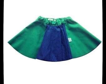 Fall/winter clothing girls - skirt peas (grass green base)