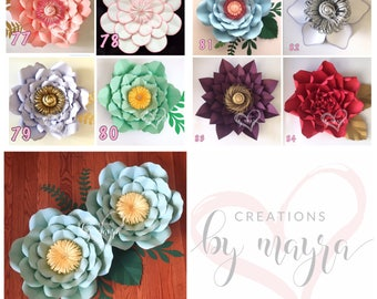 PDF Paper Flower Templates  / DIY paper flowers / Price is for ONE style