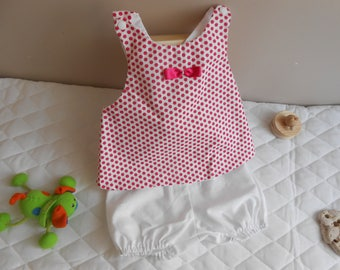 set of tunic and bloomer 9-12 months