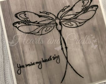 Handcrafted Greeting Card - Dragonfly (PAT-0032)