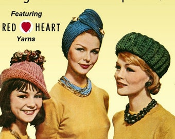 Vintage 'Coats and Clark 135 Hats, Mittens, Socks ' magazine- The Butcher knit toy pattern in pdf