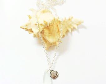 Mermaid Jewelry Sea Glass Jewelry Sea Glass Pedant Sea Glass Necklace Beach Glass Necklace  Beach Wedding Jewelry Beach Bridesmaid Necklace
