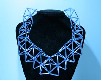 Light blue glass tubes necklace