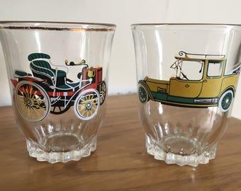 Sale: Pair of Vintage Car Shot Glasses