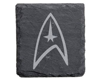 Star Trek Slate Coaster Set
