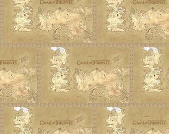 HBO Game of Thrones Map of Westeros from Springs Creative woven cotton, antihero, ffabric woven