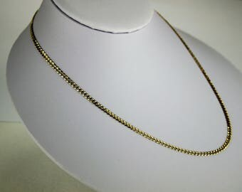 "10K Yellow Gold Cuban Chain Necklace for everyone 2.5mm/16""~26"""