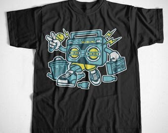 T-Shirt boombox 1