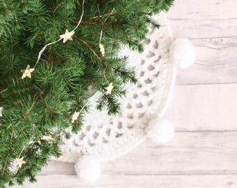 Christmas Tree Mat Decor Pom Rug