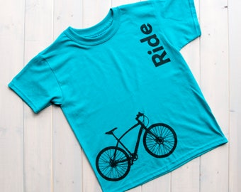 Kids Bike Shirt, Ride Kid's T-Shirt,Biking Kids Shirt, Kids Fashion, Bicycle Design Shirts,Biking Shirts,Kids Graphic Shirts