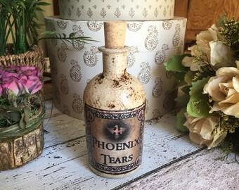 Harry Potter Phoenix Tears Potion Bottle. Harry Potter Gift.  Harry Potter Magic Potion. Magic Potion. Harry Potter Decor. Potion Bottle.