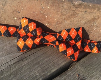 October Argyle Bow Tie