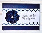 SCRIPTURE Greeting Card - Unique Handmade Religious Card / One-of-a-kind Bible Verse Card / Blank Card
