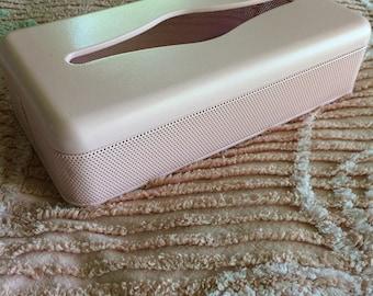 Tissue box, Vintage Pink Tissue Box, Vintage Bathroom, Bathroom Decor
