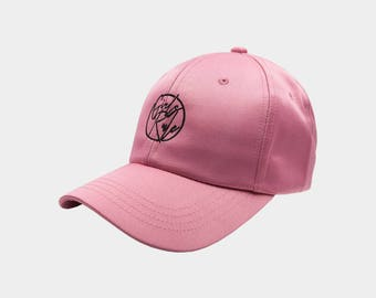 Girls Rule Dad Hat - Pink Satin