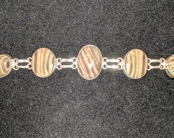 Jasper natural Stone 925 silver bracelet