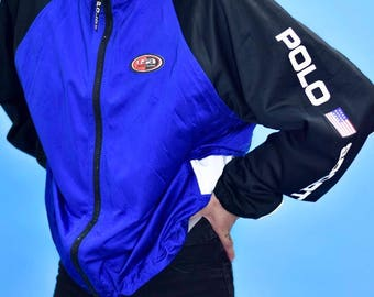 Vtg Polo Sport Spell-Out Jacket-Blue/Blk/Wht/Red